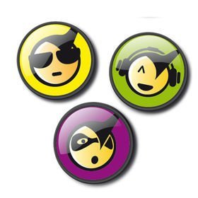 Broszki PINS Emoticons Cool do plecaka Nikidom Roller