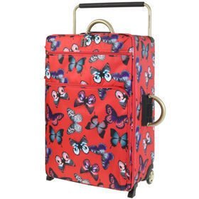 IT Luggage World's Lightest Red Butterfly duża walizka