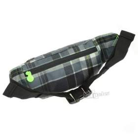 Chiemsee Waistbag Plaid Black saszetka biodrowa / nerka Hama