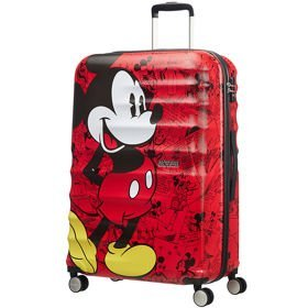 American Tourister Wavebreaker Disney duża walizka 77 cm / Mickey Comics Red