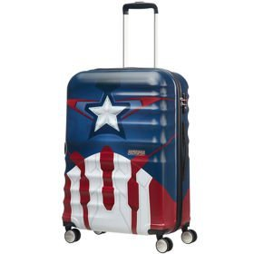 American Tourister Wavebreaker Disney średnia walizka 67 cm / Captain America Close-Up