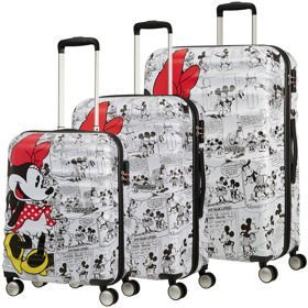 American Tourister Wavebreaker Disney zestaw walizek / komplet / set / Minnie Comics White