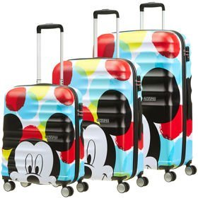 American Tourister Wavebreaker Disney zestaw walizek / komplet / walizki na 4 kółkach / Mickey Close-Up