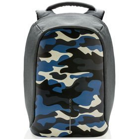XD DESIGN Bobby Compact Print plecak na laptop 14'' / tablet 9'' / Camouflage Blue